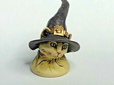 Harmony Kingdom Art Neil Eyre Designs halloween kitty cat witch hat moon magnet