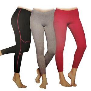 Crivit Womens Thermal Base Layer Leggings Pink Black Grey Winter 6-8/14-16/18-20