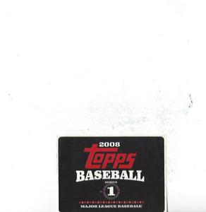 2008 Topps Baseball Series 1 Set Sticker Unused Free Shipping