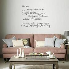 DIY Quote Words Art Removable Vinyl Wall Sticker Decal Mural Home Room Decor