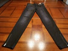 NWOT~ZARA BASIC Z1975 DENIM~US 4~BLACK~DISTRESSED/RIPPED~LOW RISE~SKINNY~STRETCH