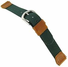 14mm Timex Expedition Indiglo Swiss Army Style Green Tan Ladies Watch Band