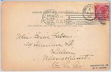 GIBRALTAR -  POSTAL HISTORY - POSTCARD to USA 1903