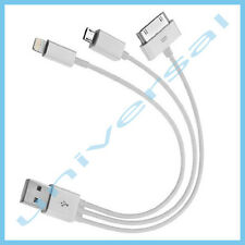 USB Kabel Datenkabel Ladekabel 3in1 30-Pin / 8-Pin Lightning / Micro 2.0