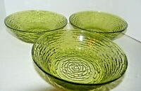 3 Fire King Green Soreno Soup Cereal Bowls in Mint Condition