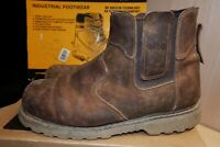 Site Mudguard Brown Leather Chelsea Safety Dealer Boots Steel toe UK 9 - AA60