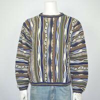 Mint TUNDRA Bachrach Textured Mercerized Cotton Vintage Pullover Sweater Sz L