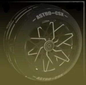 Black Astro CSX Inverted Exotic Wheels Rocket League Ps4 *STRIKER*