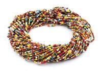 Medium Vintage Christmas Beads Rustic Red Medley 4mm Ghana African Multicolor