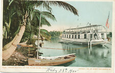 Miami FL * House Boat on River  1904 * Detroit Photographic Co.