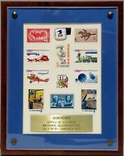 Collectible Plaque Mint U.S. Postage Stamps, Postal Service Pin Postal Inspector