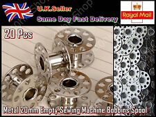 Brand New 20 pcs Metal 20mm Empty Sewing Machine Bobbins Spool