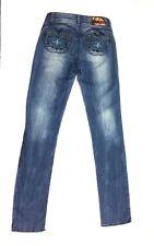 Apple Bottom Juniors Distressed Denim Jeans Size 1-2 1/2 Skinny