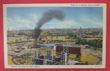 VTG POSTCARD-MODERN OIL FIELD IN WEST TEXAS-FUEL FOR A MILLION CARS A DAY!
