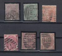 X2435/ GREAT BRITAIN – VICTORIA – 1855 / 1880 USED CLASSIC LOT – CV 1435 $