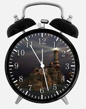 "Light House Alarm Desk Clock 3.75"" Home or Office Decor W320 Nice For Gift"