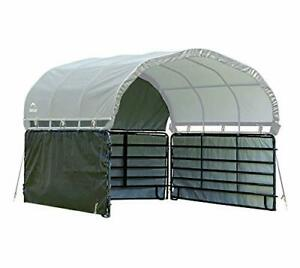 ShelterLogic 12' x 12' Equine Livestock and Agricultural Corral Shelter Shade...