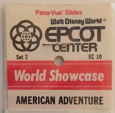American Adventure Set 2 EC-10 Epcot Pana-Vue Slides World Showcase Disney