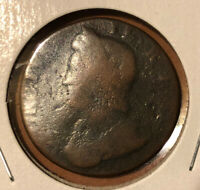 1734 Great Britain 1/2 Penny World Coin Britania Seated UK England RARE
