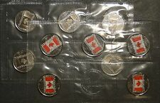 Canada 2015 Canadian flag 50th anniversary 25cent 25c quarter red plain10-pack