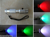 3W LED RGB Colour Changing Torch Flashlight 10 colours New battery powered torch