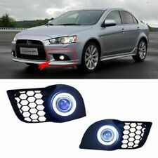 New Brand Angel Eyes+HID Lamp Projector Lens Foglights For Mitsubishi Lancer-ex