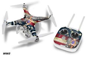 DJI Phantom 3 Drone Wrap RC Quadcopter Decal Sticker Custom Skin Accessory WW2