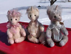 Charlie Bears Minimo Unicorns Set of 3 All Numbered 326