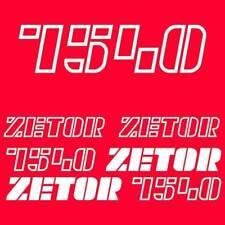 Zetor 7540 tractor decal aufkleber adesivo sticker set