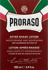 Proraso After Shave Lotion with Sandalwood and Shea Butter, 3.4 fl oz