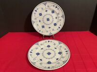 "Johnson Brothers DENMARK BLUE Salad/Dessert Plate 8"" Set of TWO Excellent"