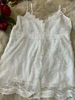 Casis collection white lace unpadded Camisole Top sleepwear nightwear it5 Us38