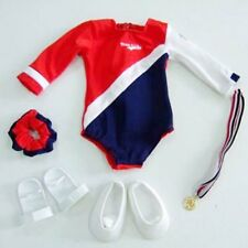 "Red, White and Blue Gymnastics 5pc Set Fits 18"" American Girl Doll"