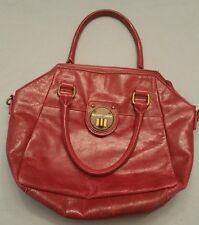 Elliott Lucca Leather Satchel Handbag in Cherry Red Model: 896595