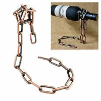Magic Stainless Steel Chain Illusion Wine Holder Floating Bottle Rack Stand Art