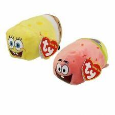 "Set of 2 NEW TY Beanie Boos Teeny Tys 4"" SpongeBob SquarePants Patrick Star"