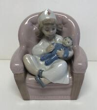 Spanish Porcelain Lladro Figure Girl Giving Check Up Nurse