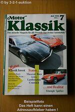 Motor Klassik 7/90 Porsche 924 Turbo Countach Bora