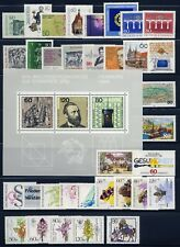 Germany . 1984 Commemorative Year Set (34 stamps, 1 sheet) . Mint Never Hinged