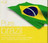 VARIOUS PURE BRAZIL x4 CD ALBUM UK 2010 SONY MUSIC 88697753102 COMPILATION