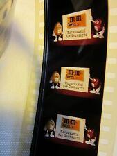 Pellicule 35 mm.Film vintage publicitaire pour cinéma..M et M'S..GORGETTE