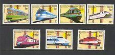 Cambodia 1989 SG 960-6 Railway Locomotives MNH