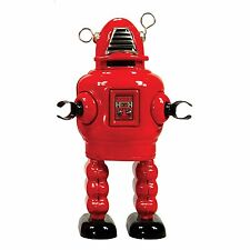ENESCO  - SAINT JOHN - PLANET ROBOT RED - MECHANICAL WIND UP TIN TOY - NEW BOXED