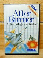 After Burner (Sega Master System, 1988) Cartridge & Case No Manual Tested VG