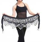 Belly Dance Costumes  Hip Skirt Scarf  Triangle Gold Coins Sequins Bead Belt Wra