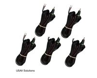 Set of 5 - 16 Gauge Speaker  Cable for Bose Lifestyle Spk  - RCA to Bare Wire
