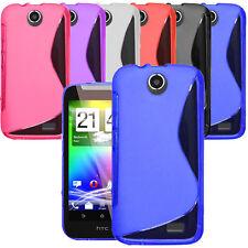 S LINE WAVE Funda de Silicona para Teléfono HTC Desire 310 + Protector Pantalla