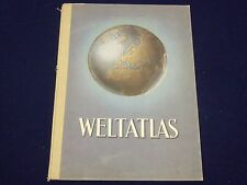 1948 WELTATLAS ATLAS HERGESTELLT WENSCHOW GERMAN - COLOR MAPS - J 1955