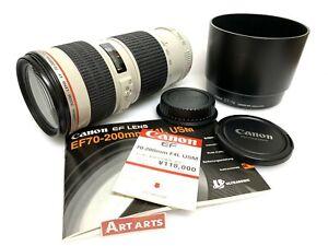 【 EXCELLENT++++ w/ET-74 HOOD 】 Canon EF 70-200mm f/4 L USM AF/MF Lens from JAPAN
