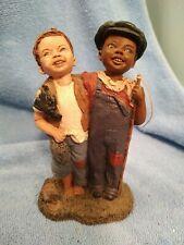 "Martha Holcombe All God's Children Figure #110 "" Simon & Andrew"" Fishing Buddies"